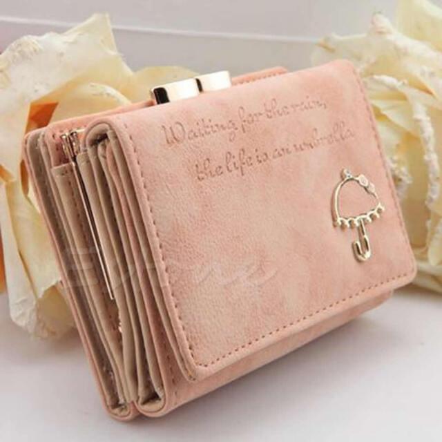 Style Women's Fashion Leather Wallet Button Clutch Purse Lady Short Handbag Bag