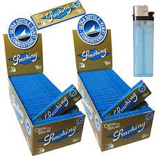 Cartine SMOKING Blu CORTE Ultra Sottili blue 2 box 100 Libretti