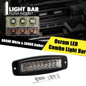 1X-7-3-039-039-54W-5400LM-LED-Work-Driving-Light-Bar-Osram-LED-Combo-Lamp-Dual-Color