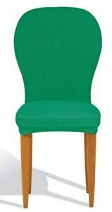 SEI Copriseggiola GENIUS imbottito seduta e schienale per sei sedie Oliva