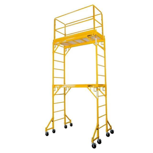 Steel Mobile Scaffold Tower, Platform Ht 3.5M With 18 Inch Outrigger