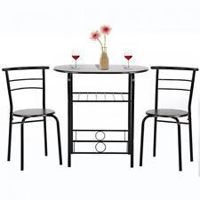Dining Kitchen Table Dining Set,3 Piece Metal Frame Bar Dining Room Tabla