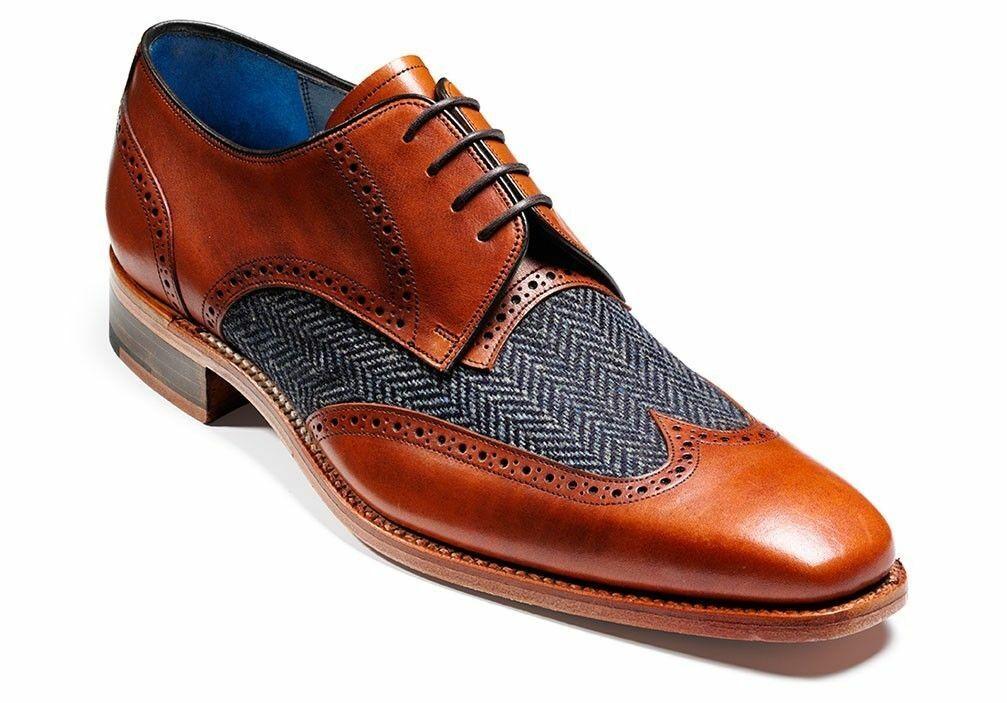 Homme Fait à la main Chaussures en Cuir & Tweed Tissu   Formal Wear   Décontractée Bottes