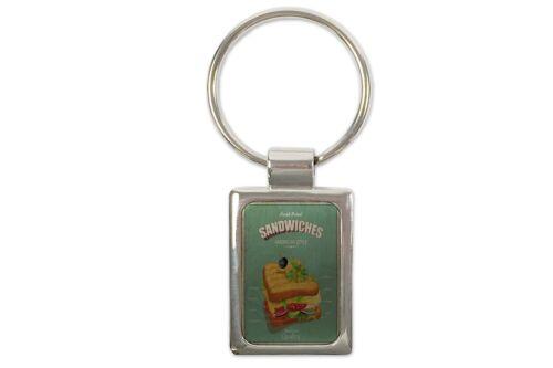 Schlüsselanhänger Retro Sandwich bedruckt
