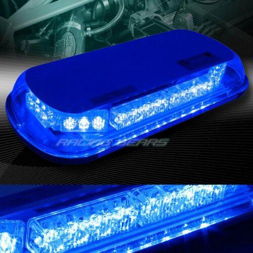 34 LED BLUE CAR TRUCK EMERGENCY ROOF TOP HAZARD WARNING FLASH STROBE LIGHT KIT