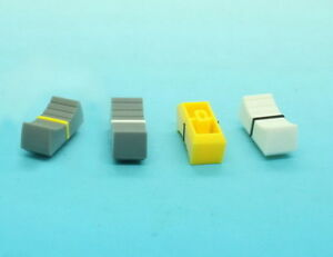 10-x-Slide-Potentiometer-Mixer-Knob-21-5mmLx10mmW-for-4mm-Shaft-Various-Colors