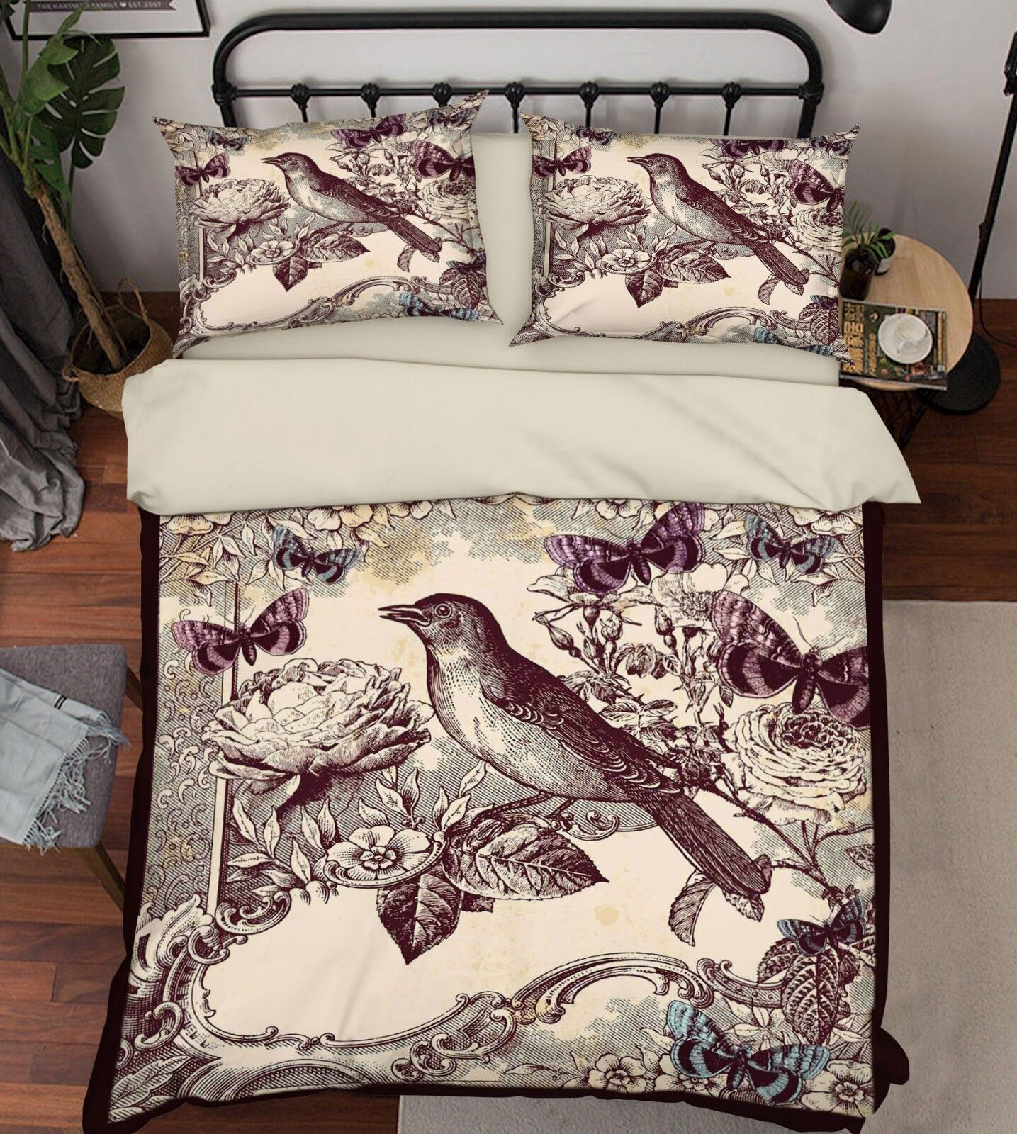 3D Paint Bird Art 88 Bed Pillowcases Quilt Duvet Cover Set Single King UK Summer