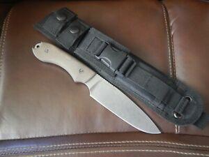 Bradford Knives Guardian 5 Full Flat Grind 3V Stonewash Finish 3D Micarta