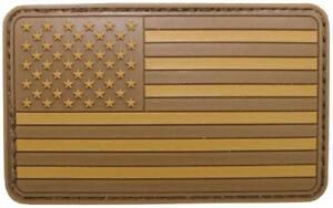 Parche-bandera-americana-3D-caucho-PVC-USA-Desert-arido-con-cinta-VELCRO