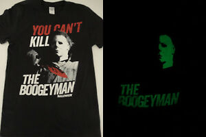 07700ef39 Michael Myers Halloween Movie You Can't Kill the Boogeyman Glow in ...