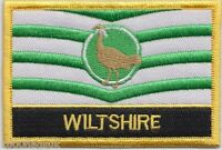 Wiltshire County Flag Embroidered Patch Badge - Sew or Iron on