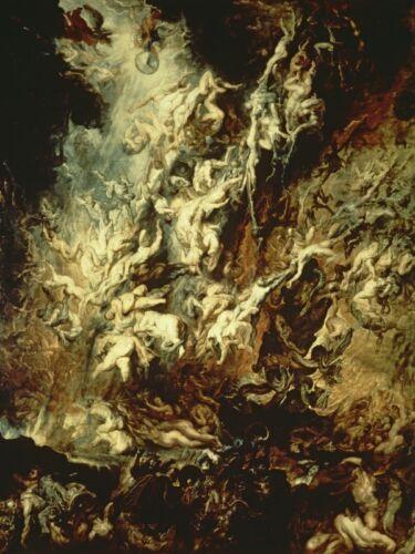 Poster oder Leinwand Bild Peter Paul Rubens Mythologie Dark Malerei Creme C7XJ
