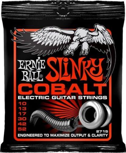 5 Pack Ernie Ball 2715 Slinky Cobalt Electric Guitar Strings 10-52 Free US Ship