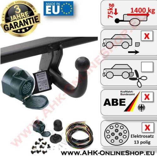 AHK E-Satz 13 polig Dacia Dokker ab 2012 Anhängerkupplung Komplett AHZV Neu