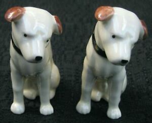Nipper-twins-Victor-Edison-dogs-phonograph-salt-and-pepper-ceramic-nos-old-stock