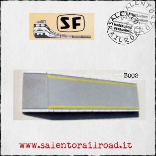 marciapiede stazione CON LINEA GIALLA stile FS 45 mm B002c SCIVOLO S.F