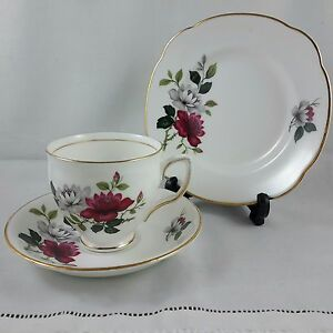 Vintage-Duchess-Fine-Bone-China-Floral-Teacup-Tea-Cup-Trio
