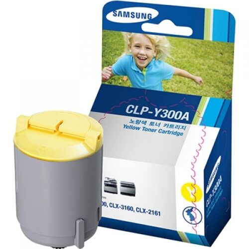 Samsung CLP-Y300A Yellow Laser Toner Cartridge For CLP-300/CLX-3160/CLX-2160