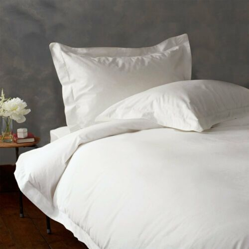 3 PIECES KING WHITE SOLID DUVET COVER SET 1500 THREAD COUNT 100/% EGYPTIAN COTTON