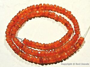 Carnelian-3-5-4mm-4-4-5mm-4-5-5mm-Faceted-Rondelle-Beads-14-034-str-Select-A-Size