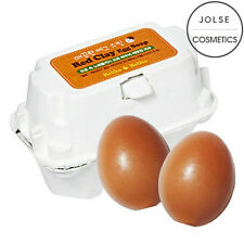 [Holika Holika] Egg Soap RED CLAY 50g*2ea Clean Pore Care Mild Sebum Control