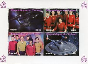 Chad-2013-MNH-Star-Trek-James-Kirk-Spock-Leonard-Nimoy-Enterprise-4v-M-S-Stamps