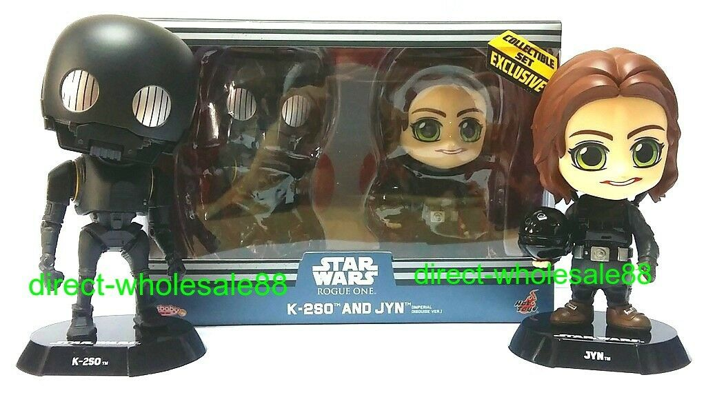 Hot Toys Star Wars Rogue One jyn & K-2SO Bobble-Head cosbaby k2so
