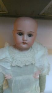 Armand-Marseille-15-034-Bisque-Doll-370-8-0-Germany-Made-Antique-Leather-Body
