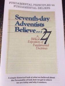 Details about Fundamental Principles of SDA vs  Fundamental Beliefs  Book~Seventh-day Adventist