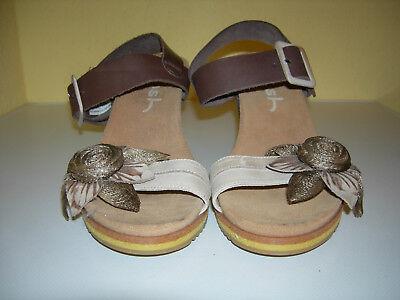 WOSH Damen Plateau Keilabsatz Schuhe Sandaletten Leder Beige Spain G.40 Neuw