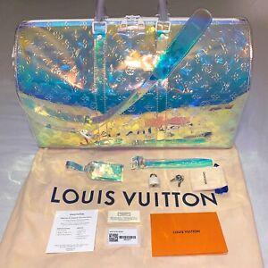 5d46d9b28ee Details about Louis Vuitton Prism Keepall 50 Bandouliere - Virgil Abloh  Iridescent 19SS