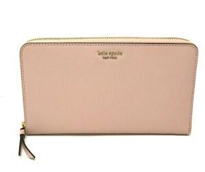 Kate-Spade-Cameron-Large-Travel-Wallet-Leather-Organizer-Warm-Vellum-WLRU5442