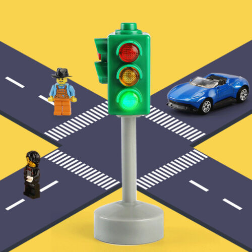 MINI ANALOG TRAFFIC SIGNS ROAD LIGHT SOUND /& LIGHTS LED KIDS EARLY EDUCATION TOY