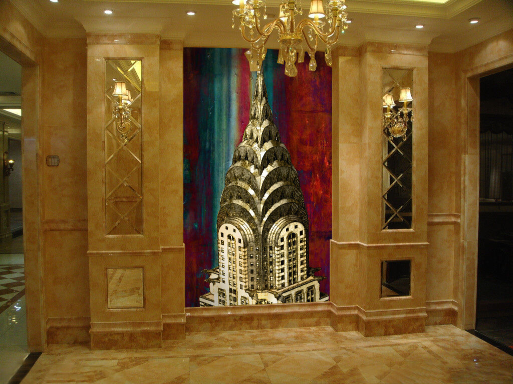 3D Empire State Building Wall Paper Wall Print Decal Wall Deco Wall Indoor Mural