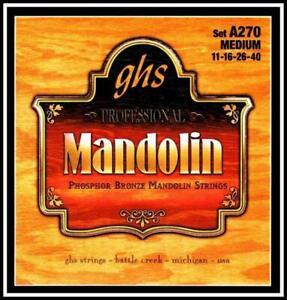 GHS A270 Professional Phosphor Bronze Mandolin Strings Medium Gauge 11 - 40