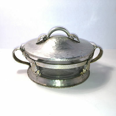 Vtg Trade Continental Hand Wrought Aluminum Serving Bowl w/Lid #559