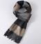 100/% wool Cashmere Men Women pashm Scarf Wrap Plaids Checks striped brown 0837