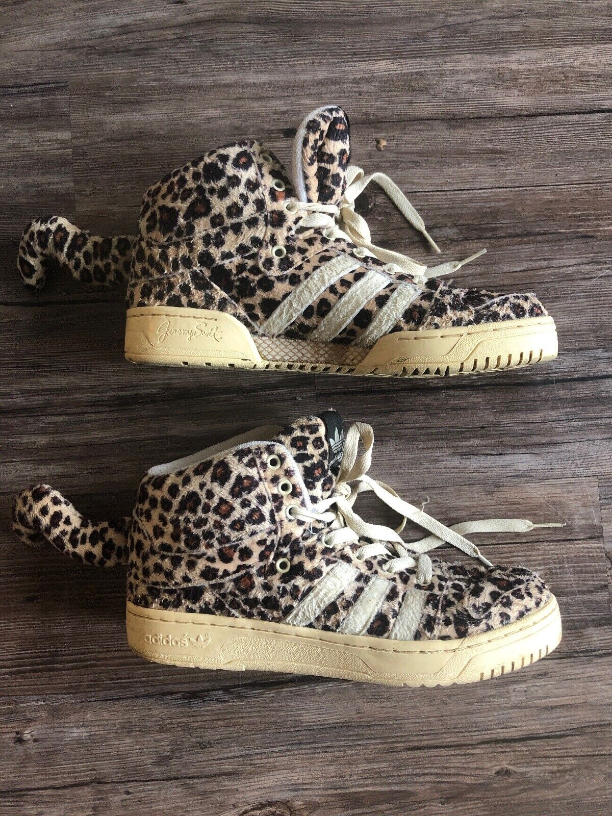 Mens Size 7.5 Adidas Originals Jeremy Scott JS LEOPARDS V24536 Rare Cheetah Tail