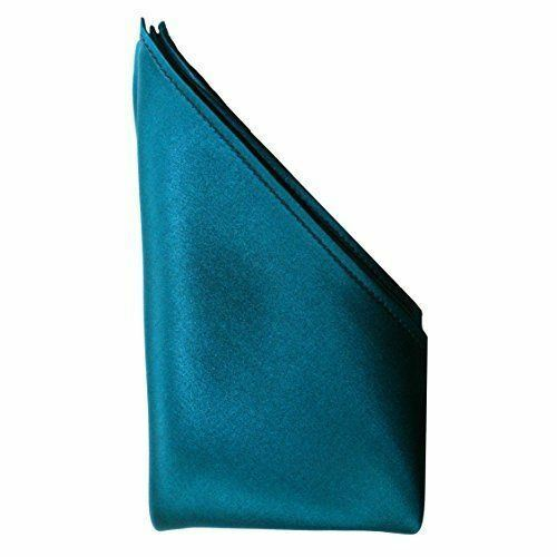 "Sapphire Silk Satin Pocket Square 16/"" by Royal Silk®"