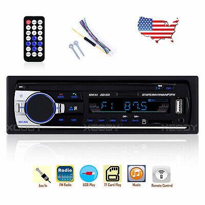 Car Stereo Radio Audio MP3 Player 1 Single DIN 4x60W USB FM AUX Bluetooth