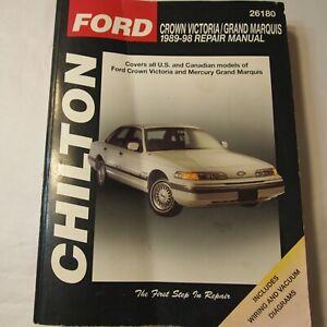 Chilton-Repair-Manual-26180-Ford-Crown-Vic-Mercury-Grand-Marquis-1989-thru-1998