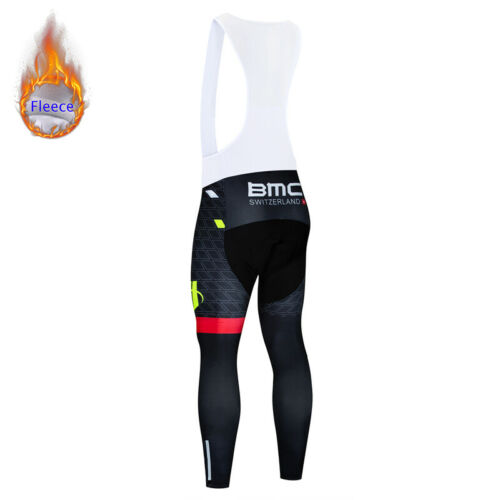 Pro Padded Fleece Men/'s Cycling Bib Tights Bicycle Bottoms Clothing Pants Gears