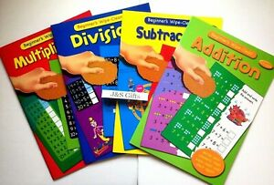 WIPE-CLEAN-CHILDREN-039-S-MATHS-BOOKS-ADDITION-DIVIDE-SUBTRACT-MULTIPLY-SINGLE-ITEM
