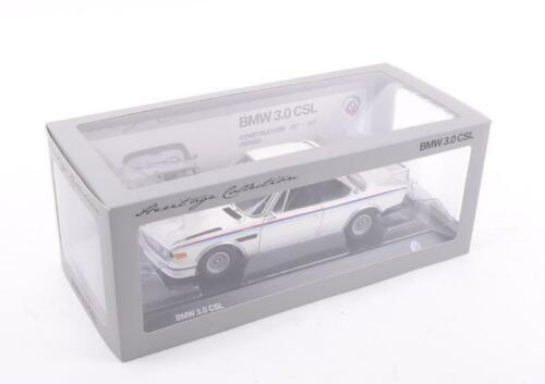 Original BMW Miniatur E9 3.0 CSL Heritage Collection 1:18 Sammlermodell 3.0CSL