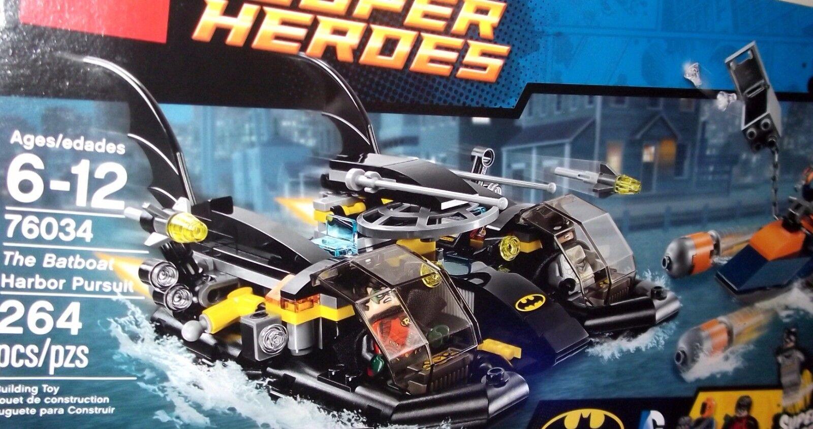 LEGO ✰ 76034 ✰ nuovo Batuomo Batboat  Harbor Pursuit Deathstroke Robin Justice Leag  caldo