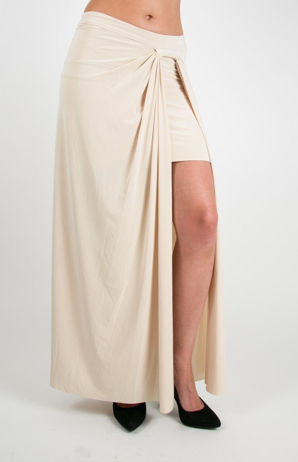T-Bags Los Angeles Single Side Slit Flare Skirt w Mini Slip