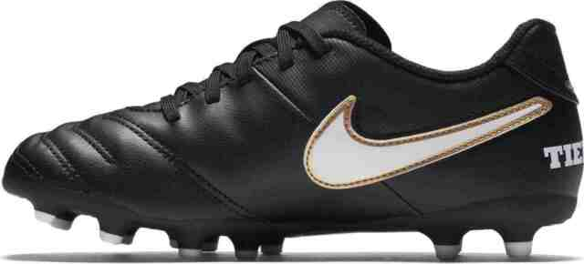 Nike Tiempo Rio III FG Boys Junior Football BOOTS Soccer Cleats Black UK 3   48ab53f3fdd2a