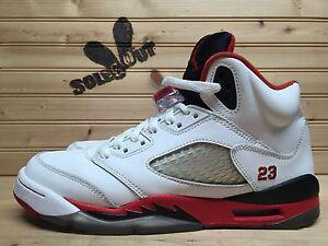 2013-Nike-Air-Jordan-Retro-V-5-sz-6-5y-GS-Fire-Red-Black-Tongue-440888-120