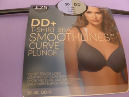 Marks /& Spencer 30DD E F G new almond Smoothlines curve plunge t-shirt bra