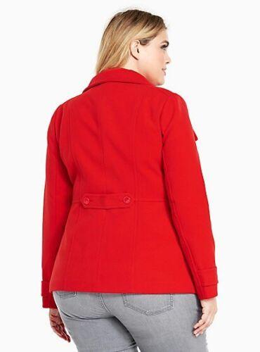 Torrid XL Double Caban Boutonné Nwt Doublé Rouge Plus Femmes 17 2 2x 6Znpq7A4